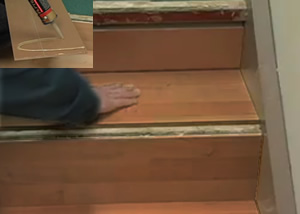 Stair Installation Bull Nose Cork Floating Flooring