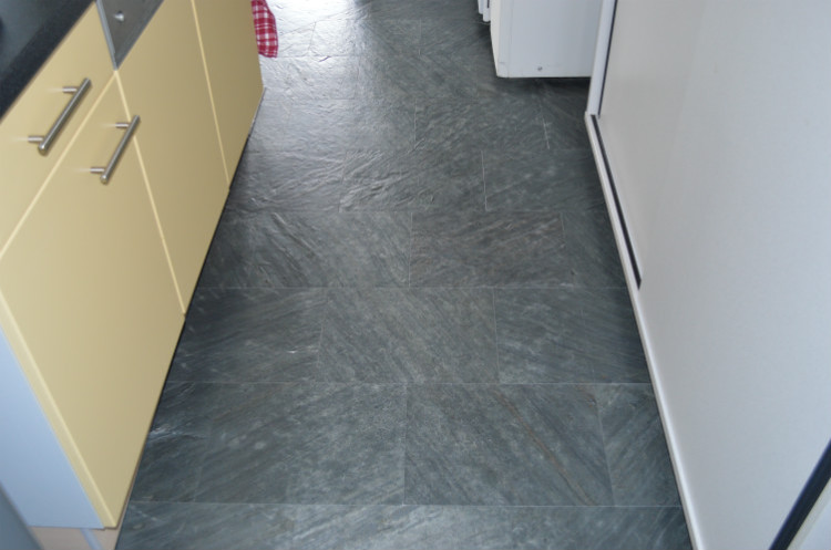 Black Slate Stone Cork Stone Floating Flooring Cancork