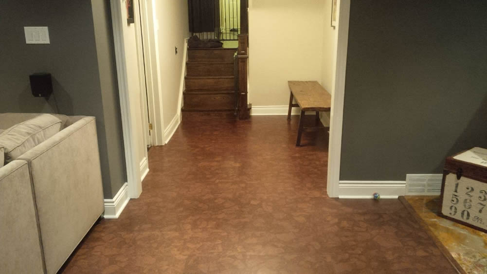 best basement flooring cork floating floor & Best Basement Flooring Ideas and Options