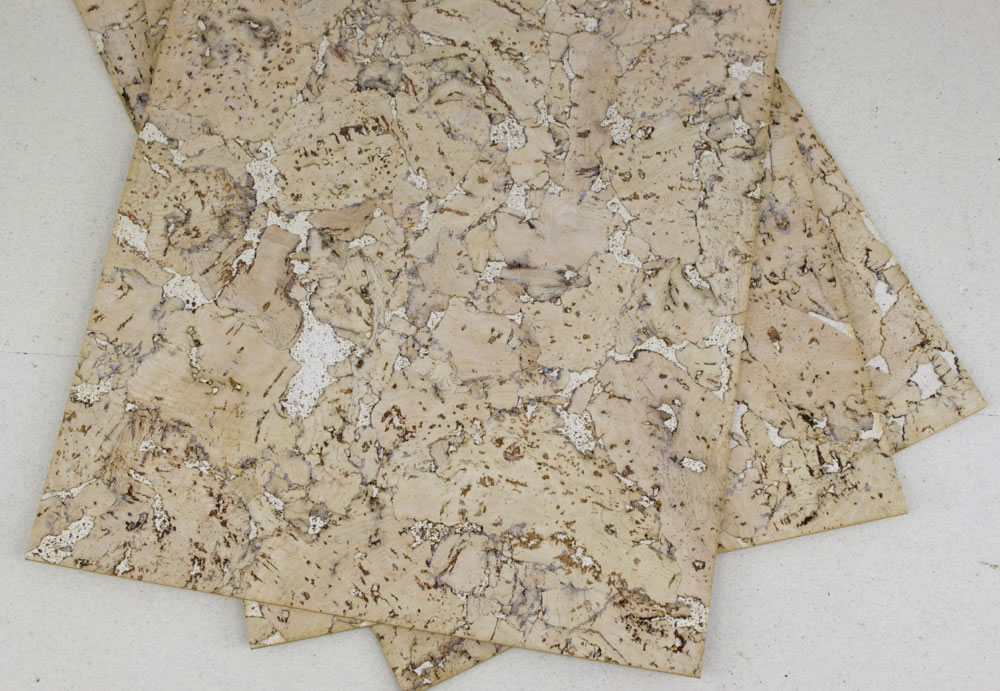 creme cork wall covering