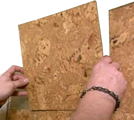 how to install cork wall tiles