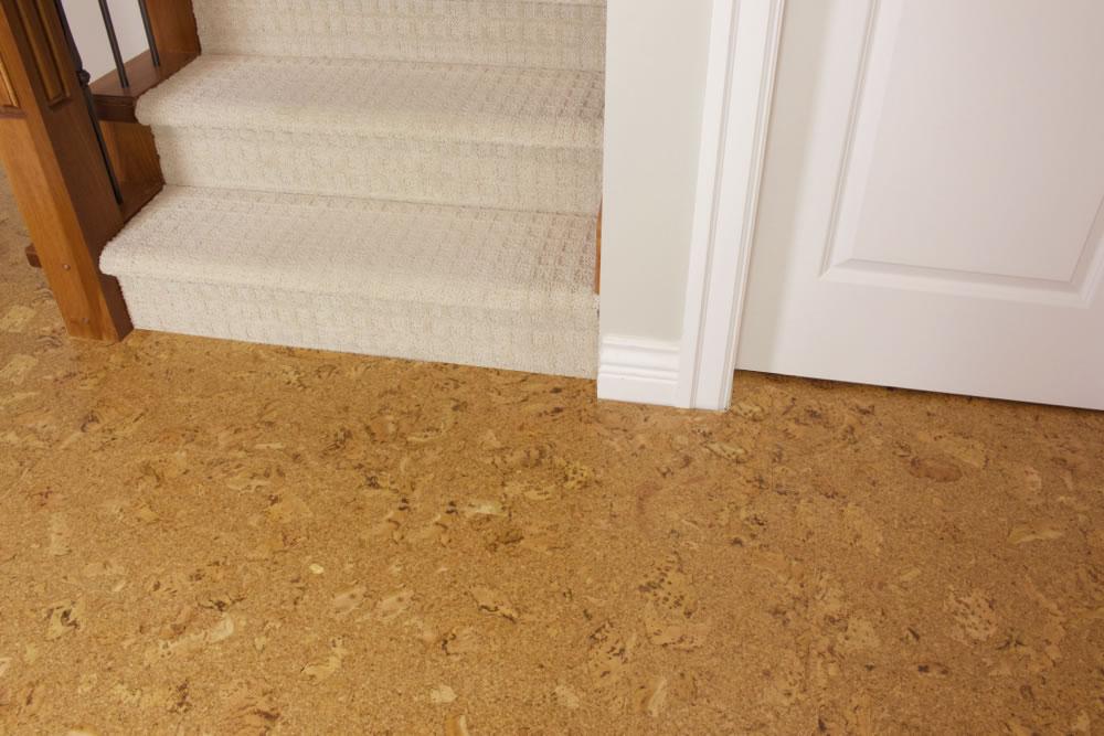 Salami 8mm glue down cork tile 18 per package for Laminate flooring cork