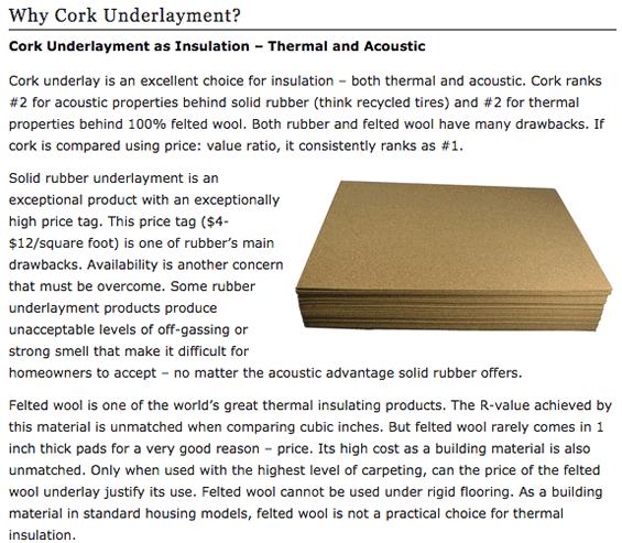 Why Cork Underlayment Cancork Floor Inc