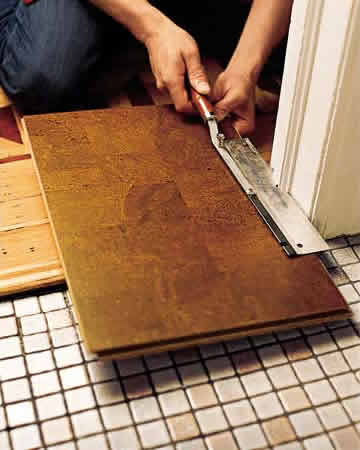 Cork Floating Floor Prep Install